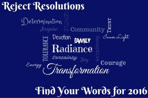 Reject Resolutions, Find Your Words